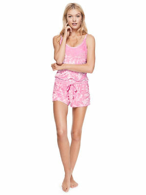 ♡ NEW! Victoria's Secret PINK Crushed Velvet Strappy Romper Sleep Lounge ♡
