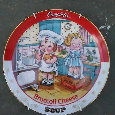 "Danbury Mint ""Campbell's Kids"" Broccoli Soup Collector Plate"