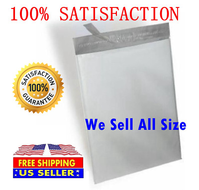 "100 #0 Unlined White Plastic Poly Mailer Bag Self Seal Free Shipping 6/"" x 9/"""