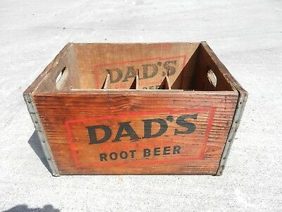 Very Rare Vtg DAD's Root Beer wood pop crate for MAMA size bottles