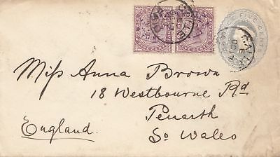 Ceylon: 1892: letter Calle to Penarth/So. Wales