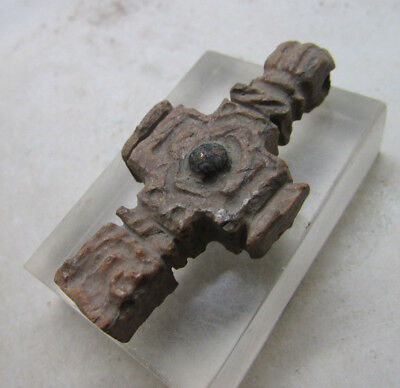 Ancient Byzantine Bone Crucifix Cross Amulet Religious Artefact