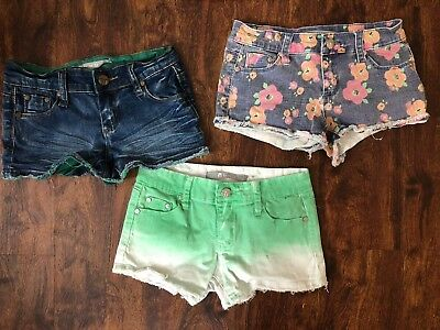49abc6627991c Nordstrom Tractr girls denim shorts size 10 Floral Summer Clothes Shorts Lot