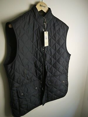 Barbour Men's Lowerdale Quilted Vest, Navy Blue, New With Tags, Large