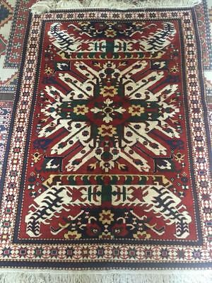 4'x6' Handmade Wool Rug Carpet Hand Knotted New ALL NATURAL DYES Antique Pattern