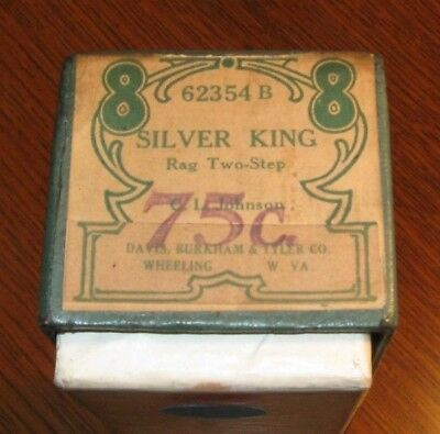 Silver King Rag Original Piano Roll 0718