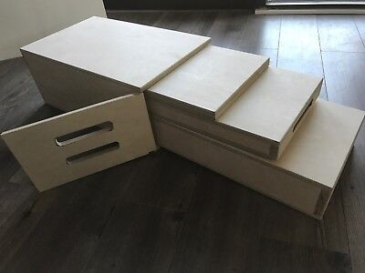 New Apple Box Set Nesting Style for Film/Stage/Studio clear coated and inscribed