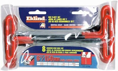 "Eklind 8 Piece 6"" Arm Cushion Grip T-Handle Hex Key Set"