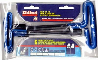"Eklind 55166, 6 Piece, 6"" Arm, Metric Cushion Grip T-Handle Hex Key Set"