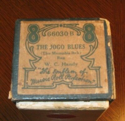 The Jogo Blues Rag W C Handy Composition Original Piano Roll 0718