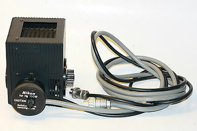 Nikon Microscope 100W Mercury Hg Lamp House with Bulb: excellent condition