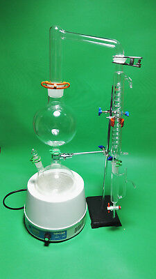 Essential Oil Steam Distillation Kit,Heating Mantle,Graham Condenser