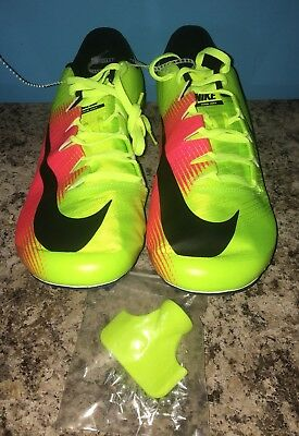 c178983e3b58 NIKE ZOOM JA Fly 3 OC Rio Track Shoes Men s Size 11 Volt Pink 882032 ...
