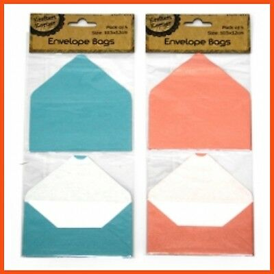 96 x CRAFT ENVELOPE POCKETS | Scrapbooking Photos Card Pouch Bag Embellishment