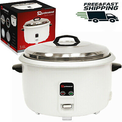 3.6L Automatic Electric Rice Cooker Non Stick Kitchen Cook Pot Keep Warmer 1950W