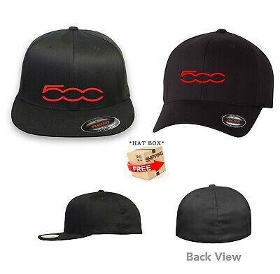 FIAT 500 FLEXFIT HAT CURVED or FLAT BILL *FREE SHIPPING in BOX*