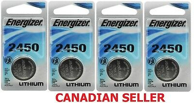 LOT x 4 New Energizer 2450 Watch Lithium 3 volt Battery, equivilate CR2450 3V