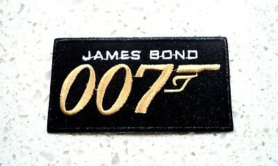 New James Bond 007 Logo Patches Embroidered Patch Applique Badge Iron Sew On