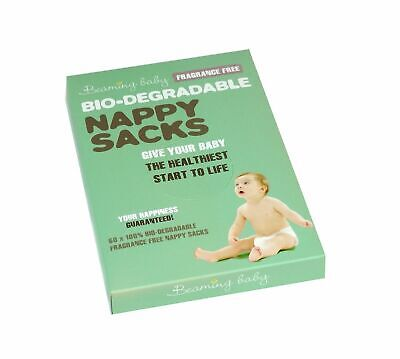 Beaming Baby Fragrance Free Bio-Degradable Nappy Sacks (Pack of 60 sacks)