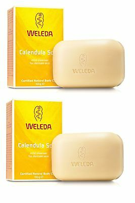 WELEDA CALENDULA BABY SOAP MILD CLEANSER FOR DELICATE SKIN 2x100g