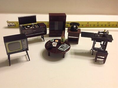 Dollhouse Miniature Japanese Living Room Furniture 1:24 Accessories Featuring 2""