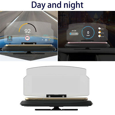 "Car HUD Head Up Display 6.5"" GPS Navigation Smartphone Stand Holder Mount"