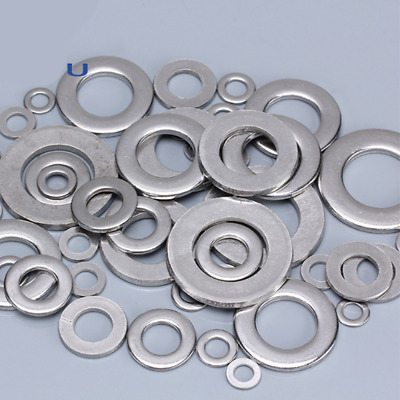 50pcs Standard 304 stainless steel flat washer Stainless steel  M1.6-M5