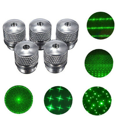 4Pcs Laser Pointer Pen Caps Converter Light Refraction Head Beam Parts