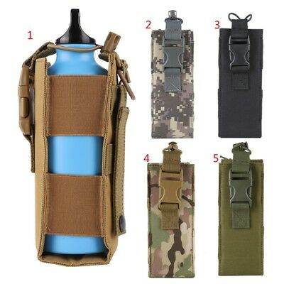 Military Tactical Waist Fanny Pack Belt Bag Camping Hiking Pouch Water Bottle AU