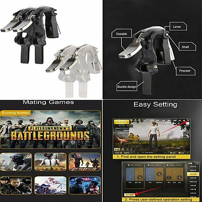 L1R1 S4 Mobile Gaming Trigger Fire Button Aim Key PUBG V3.0 Shooter Controller