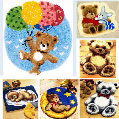 DIY Latch Hook Kit 7 models Needlecrafts Gift 20'' Rug Cute Animals Bears