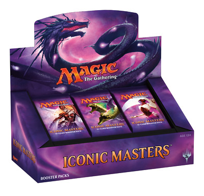 Magic The Gathering MTG Iconic Masters Booster Box Display 24 Boosters