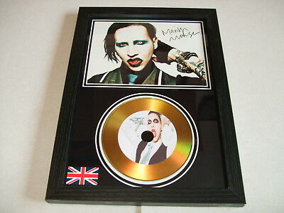 marilyn manson  SIGNED  GOLD CD  DISC 09