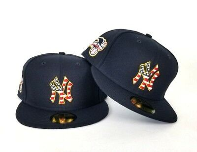 New Era New York Yankees 4th Of July American Flag Navy Blue 5950 Fitted Hat
