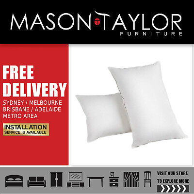 Mason Taylor Giselle Bedding Set of 2 Goose Feather and Down Pillow - White