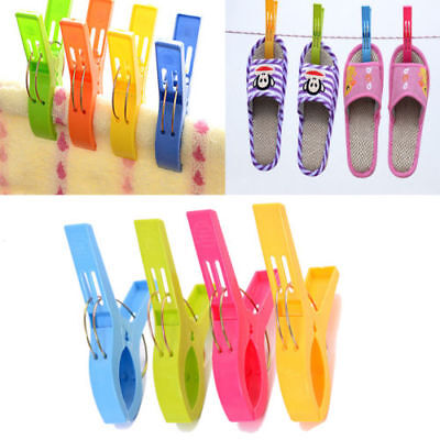 10 Pack  Towel Clips for Beach Chairs Or Lounge Chair in 5 Fun Bright Colors CA