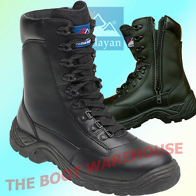 Himalayan 5060 SIA Tactical Safety Toe Police Combat Leather Side Zip Boot Black