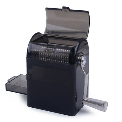 1x Hand Crank Crusher Tobacco Cutter Grinder Muller Shredder Smoking Case- Black