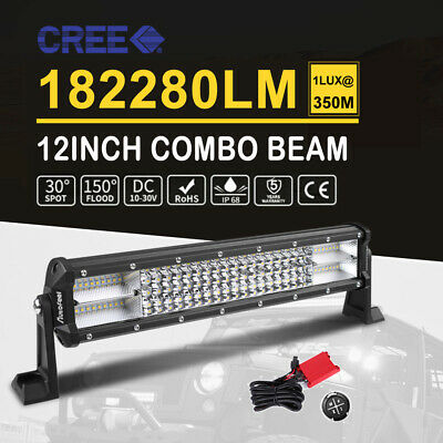 9 inch CREE LED Light Bar 840W Spot Flood 4x4 Ute Work Driving Bars 12V 24V 10""