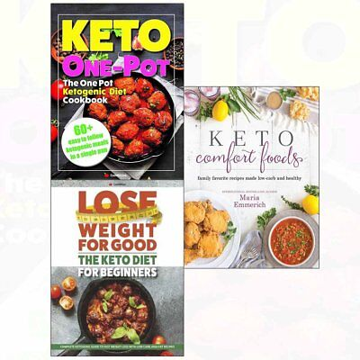 One Pot Ketogenic Diet,Keto Comfort Foods,Lose Weight 3 Books Collection Set NEW