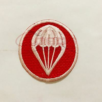 Iron On//Sew On US Army Airborne Artillery Parachute Red Cap Patch No393