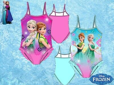 Costume Intero Mare Piscina Bambina Disney Principesse Frozen Elsa Estate