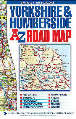 Yorkshire & Humberside Road Map,SM,Geographers A-Z Map Co. Ltd. - NEW