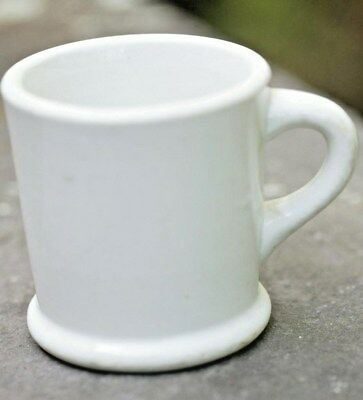 Vintage Buffalo China Dense White Vitrified Shaving Mug Coffee Mug 1930's-1940's
