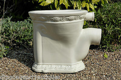 """""""The Royal"""" - Raised Relief Patterned Victorian High Level Throne Toilet 1897"""