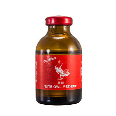 B15 Injectable Nite Owl Method 30cc of Breco / Dr.Blues for roosters