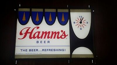 Hamms beer retro LED motion sign clock brewery issue LIMITED PRODUCTION