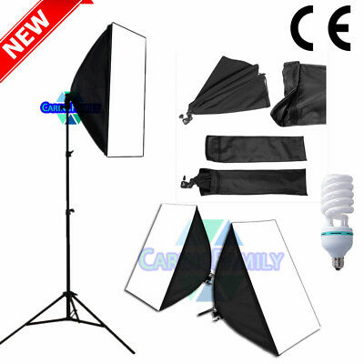 135W Photography Studio Softbox Continuous Lighting Soft Box Light Stand Kit Set