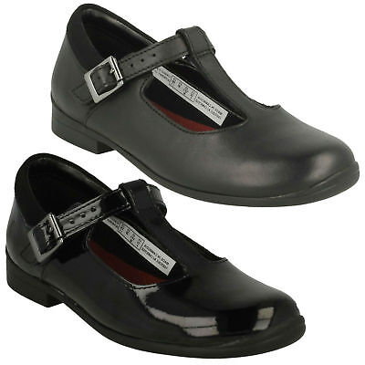 Girls Clarks Jamie Sky Buckle Kids T Bar Infant Formal Leather School Shoes Size