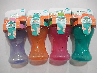 Evenflo Sippy Cups NEW 2 or 4 Pack Triple Flo 10 Oz Choose Colors